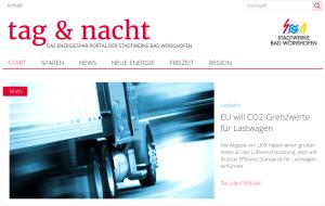Screenshot Energieportal